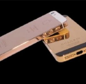 iPhone 5 rivestito in oro presentato a Dubai