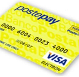 Postepay usa il circuito Visa Electron