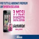 La Gazzetta on line con Mediaset Premium