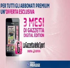 Mediaset Premium regala l'abbonamento alla Gazzetta dello Sport on line