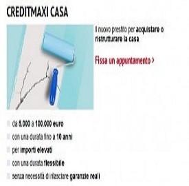 Prestito CreditMaxi di Unicredit per comprare casa o terreni