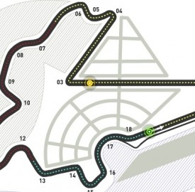 Tracciato del Gran Premio di Corea, circuito di Yeongam