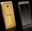 La preziosa edizione dell'HTC One realizzato con una scocca in oro 18 carati