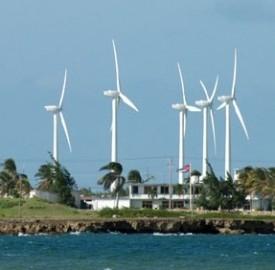 Parco eolico a Las Tunas, Cuba.