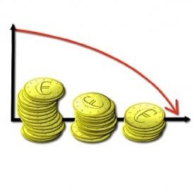 Prestiti in calo