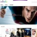 La copertina della Home page di Infinity TV.