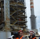 Cantiere per ambientalizzazione centrale Enel