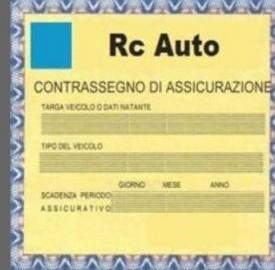 Tagliando assicurazione auto.