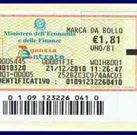 Le vecchie marche da bollo da 1,81 euro adesso costano 2 euro