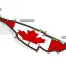 Il tracciato del circuito canadese