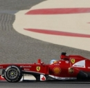 Un'immagine della Ferrari di Alonso