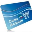 immagine social card, detta carta acquisti.