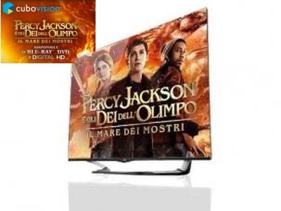 Percy Jackson e uno Smart TV LG in promozione.
