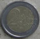 moneta da 2 euo con zona euro