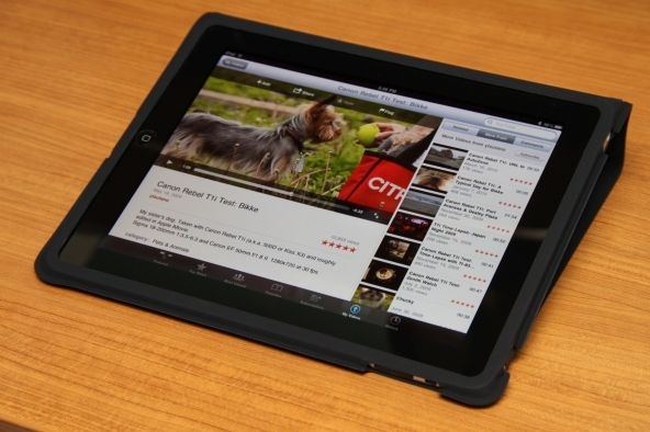 La tv su un dispositivo tablet