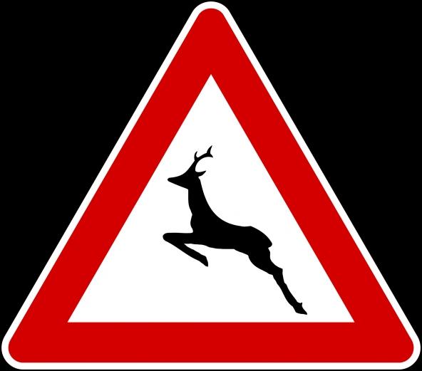 Cartello attraversamento animali selvatici
