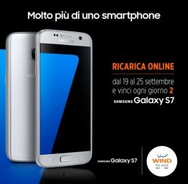 Fai una ricarica Wind online e prova a vincere il nuovo Samsung Galaxy S7.<br />
