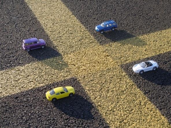 Incidente uscendo da un parcheggio