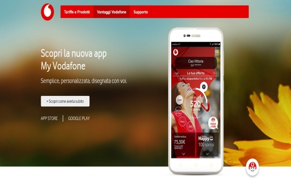 Applicazione My Vodafone mobile