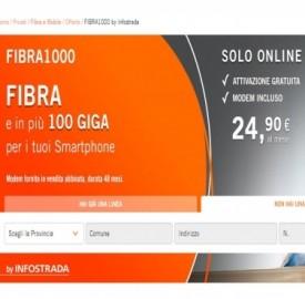 Fibra1000, la nuova offerta fibra Infostrada per nuovi clienti