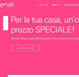 Nuova promo Enel Energia Speciale Luce e Gas Carnevale